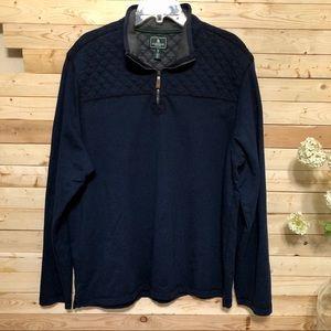 G.H. Bass &Co. Navy Blue Mens Sweater Size XL